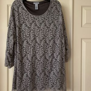 Catherines- 3/4 long sleeves - lace top